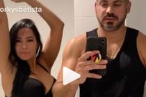 Norkys Batista y su pareja aceptaron el challenge de JLo y ARod  (Video)