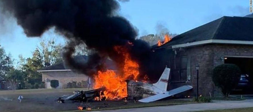 Piloto murió luego de estrellar su avioneta contra una casa al norte de Florida
