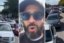 """Miami fue escenario de protestas en autos al grito de """"Viva Cuba Libre"""" (Video)"""