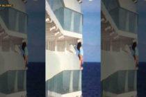 Expulsan a pareja de crucero tras tomarse fotos en el balcón de su camarote (Fotos)