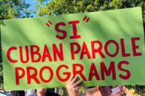 Cubanos protestan por reactivación de programa de reunificación familiar en Miami (Fotos)