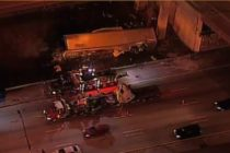 Conductor fue hospitalizado tras caída de un remolque de tractor en la I-95 de Fort Lauderdale
