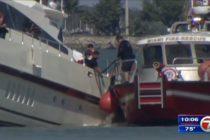 Rescatan a 12 personas tras hundimiento de yate cerca de Monument Island