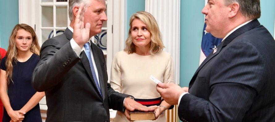 Trump designó a Robert O'Brien como nuevo asesor de seguridad nacional