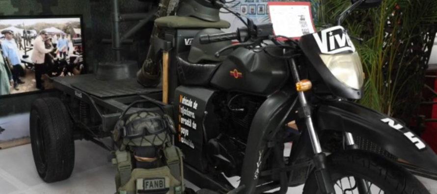 Nicolás presenta las «armas secretas» que irán a los barrios, un triciclo con ametralladora