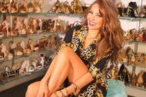 Thalía reapareció con espectacular vestido pero las críticas la catalogaron como la «copia» de JLo (foto)