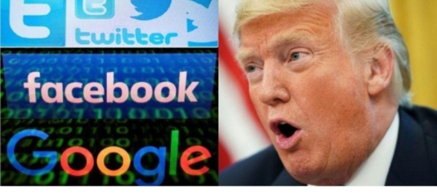 """Trump cargó contra Twitter, Facebook y Google por """"discriminar"""" a los conservadores"""