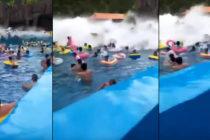 ¡Aterrador! Tsunami fue creado en una piscina de olas dejando 44 heridos (+Videos)
