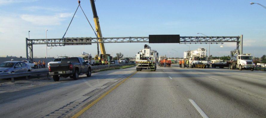 Trabajos en autopista Turnpike causaron fuertes retrasos en Miami