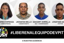 Liberaron a periodistas de VPITV tras detención arbitraria en Venezuela
