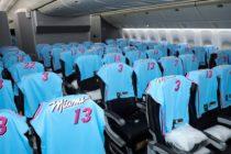 Vuelo de Miami a Madrid regaló camisetas «ViceWave» del Miami Heat a pasajeros
