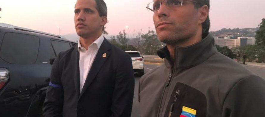 Reportan movimiento militar en respaldo al presidente Juan Guaidó en Venezuela