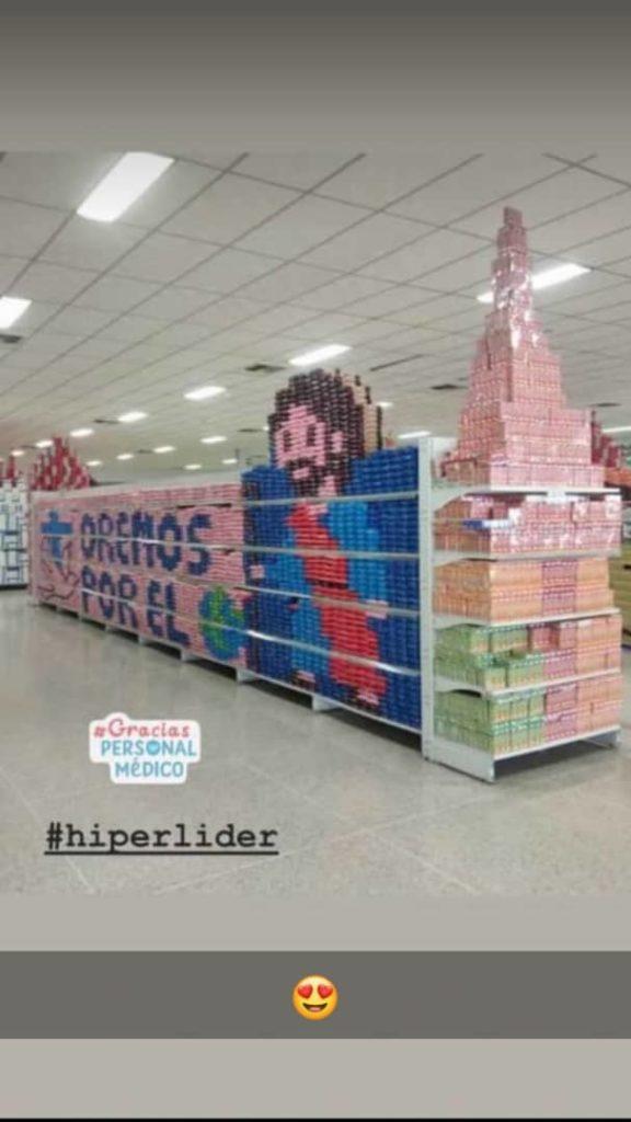 Imagen del Nazareno sorprende en pasillos de supermercado en ...
