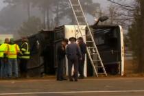 Aparatoso accidente de autobús en Virginia deja un saldo de dos personas fallecidas