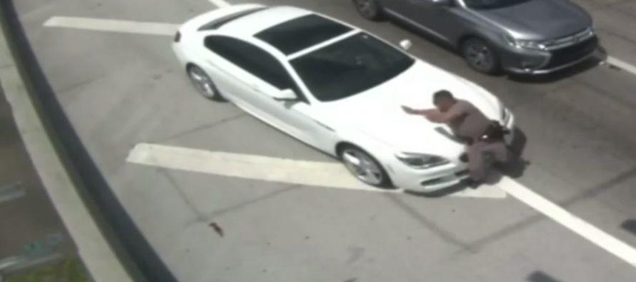 Policía de Florida fue brutalmente atropellado por un BMW blanco en la Florida Turnpike (Video)