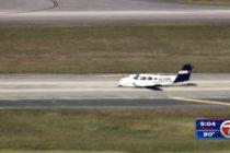 ¡Aterrizaje peligroso! Avioneta presentó problemas en su llegada a Fort Lauderdale