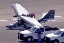 Colapsó tren de aterrizaje de aeronave en Aeropuerto Ejecutivo de Miami