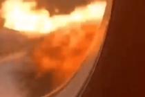 Pasajero grabó desde la cabina el horror dentro del avión ruso accidentado en Moscú