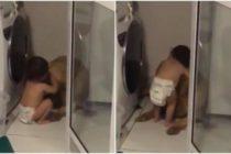 ¡Ternura al máximo! Se hizo viral un vídeo de un bebé tranquilizando a su perro por los truenos