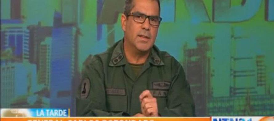"""General venezolano: """"No me voy a inmolar por un Gobierno de incapaces y corruptos"""""""