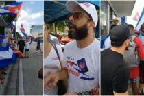 Cubanos se reunieron en Calle 8 solicitando un cambio político en la isla