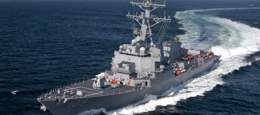 Destructor de la Marina de Estados Unidos vigila barcos de guerra rusos en Cuba