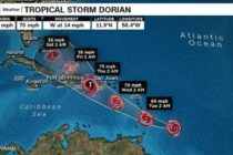 Florida entró en el cono de la trayectoria de la tormenta tropical Dorian