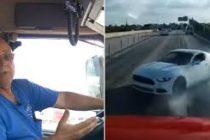 Camionero pasa el susto de su vida en la I-95