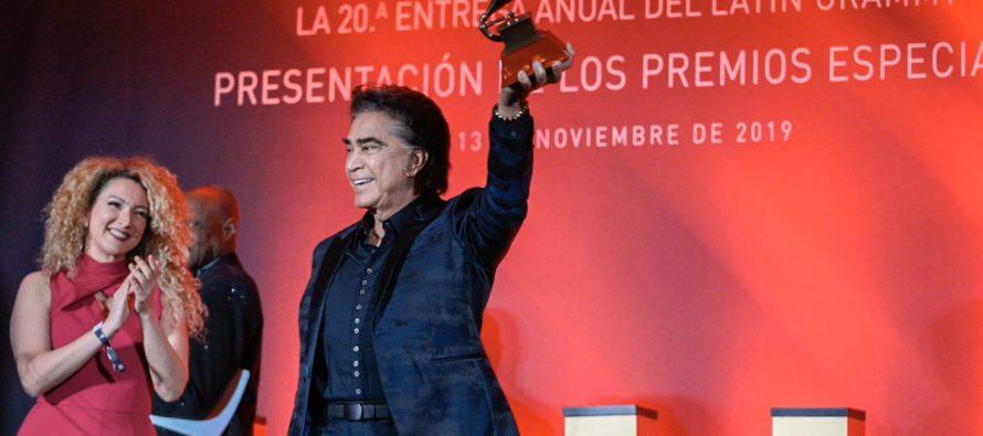 """Conozca el emotivo mensaje del """"Puma"""" José Luis Rodríguez al recibir un Grammy honorífico"""