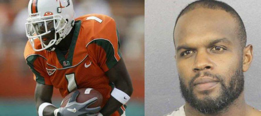 La ex estrella de los Hurricanes,  Roscoe Parrish fue arrestado en Fort Lauderdale