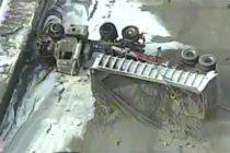 Tractor-remolque volcado obstaculizó tránsito en Lauderhill