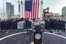 Guardia Costera descarga 27.000 libras de droga en Miami Beach