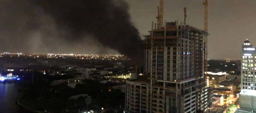 Rayo provocó incendio en subestación eléctrica de Florida