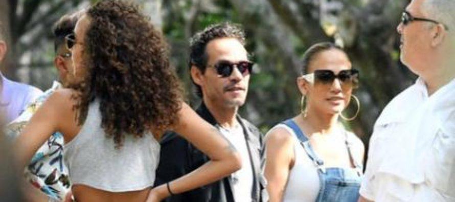Jennifer López y Marc Anthony estuvieron juntos en Miami (+Fotos)
