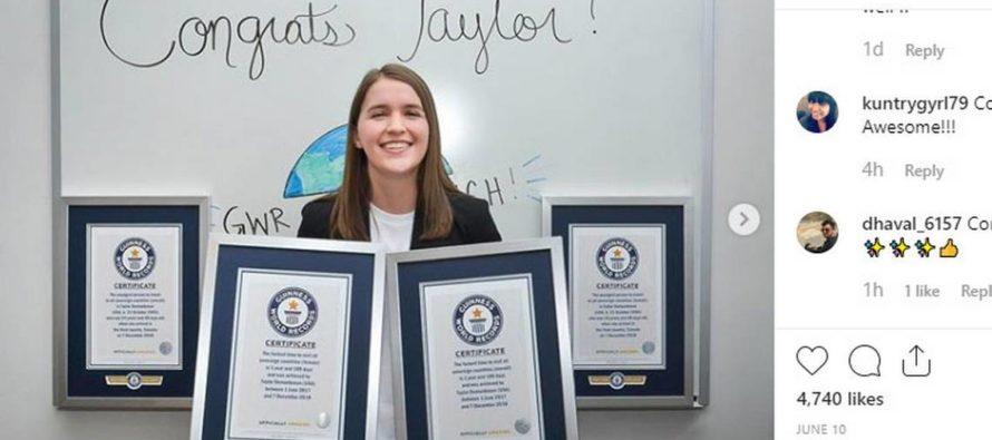 Joven rompe cuatro récords Guinness por visitar 196 naciones en 18 meses
