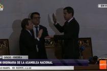 Pese a obstáculos del régimen: Guaidó se juramentó en la sede de la Asamblea Nacional de Venezuela