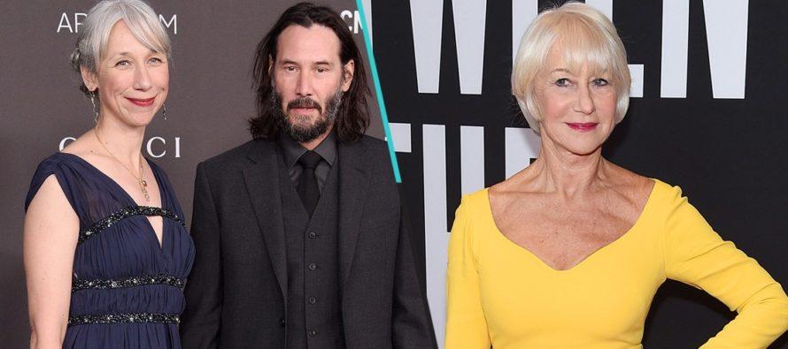 Internet confunde a la novia de Keanu Reeves con Helen Mirren