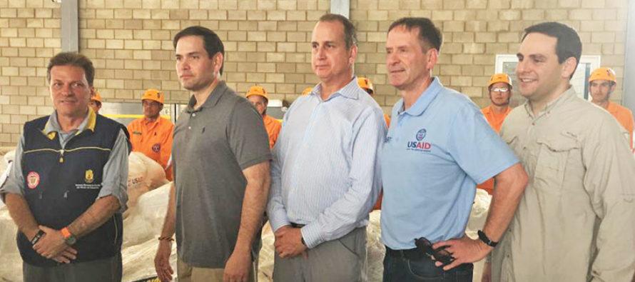 Ayuda humanitaria a Venezuela: congresistas de la Florida viajaron a Cúcuta