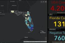 Mapa interactivo de Florida muestra los casos de coronavirus en la entidad en tiempo real