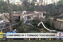 Tornado de clase EF-1 tocó tierra en el Condado de Flager dejando destrozos a su paso