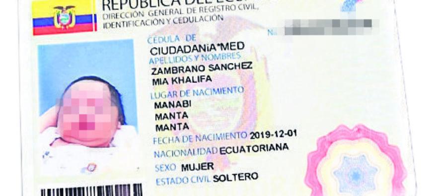 ¡Extravagancia! En Ecuador padres llamaron a su bebé Mía Khalifa