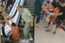 Escalera mecánica amputa la pierna de una anciana en China (VIDEO)