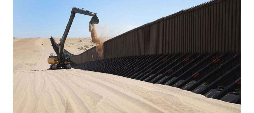 Donald Trump:800 kilómetros del muro fronterizo estarán listos para finales de 2020