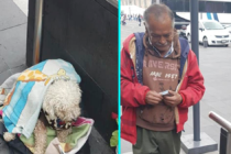 Anciano vende golosinas en las calles para alimentar a su amado perro