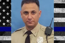 Departamentos de policía despiden a colega fallecido en accidente vial