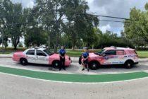 ¡De rosa! Policía de Miami apoya campaña para crear conciencia sobre el cáncer de mama