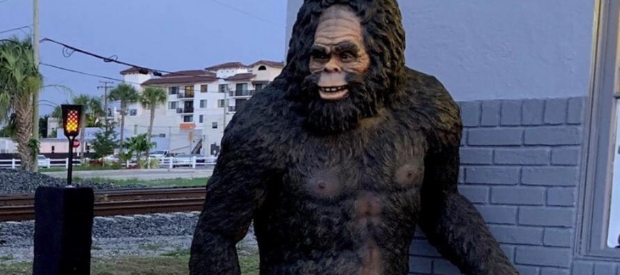 ¡Pie Grande anda suelto! Robaron enorme estatua de la mítica criatura en tienda de Palm Beach