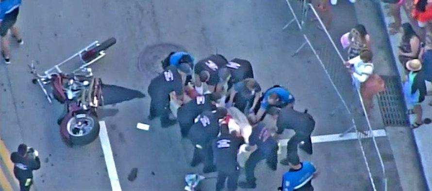 Oficial de Policía es atropellado por motociclista en Miami Beach