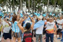Comunidad argentina se concentró en Miami a favor de Macri y una ruta democrática en su país