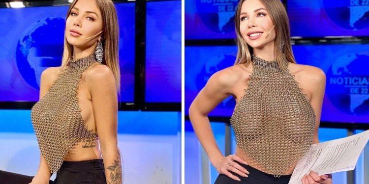 Ella es Romina Malaspina, la hermosa conductora de Canal 26 que alborotó las redes por su atrevido look